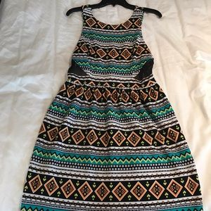 Multi color sun dress.